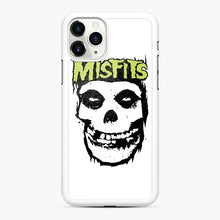 Load image into Gallery viewer, Misfits 'Logo Skull' Long Sleeved Baseball iPhone 11 Pro Case, White Rubber Case | Webluence.com