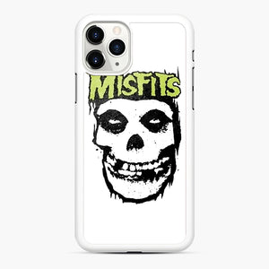 Misfits 'Logo Skull' Long Sleeved Baseball iPhone 11 Pro Case, White Rubber Case | Webluence.com