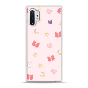 Moon Bunny 1 Samsung Galaxy Note 10 Plus Case, White Rubber Case | Webluence.com