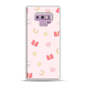 Moon Bunny 1 Samsung Galaxy Note 9 Case, White Plastic Case | Webluence.com
