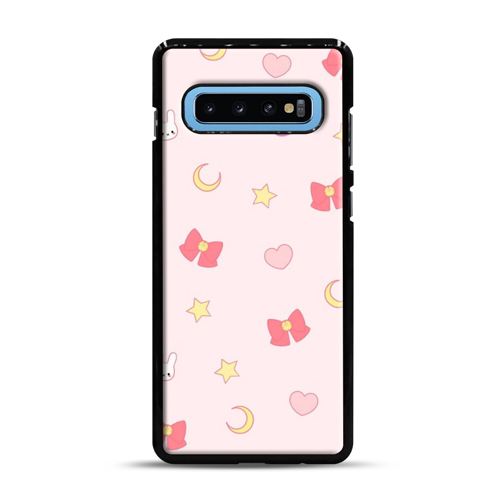 Moon Bunny 1 Samsung Galaxy S10 Plus Case, Black Plastic Case | Webluence.com