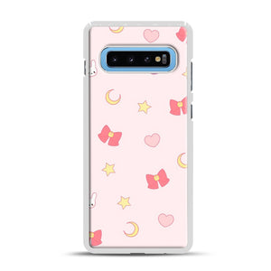 Moon Bunny 1 Samsung Galaxy S10 Plus Case, White Rubber Case | Webluence.com
