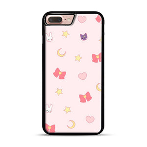 Moon Bunny 1 iPhone 7 Plus/8 Plus Case, Black Plastic Case | Webluence.com