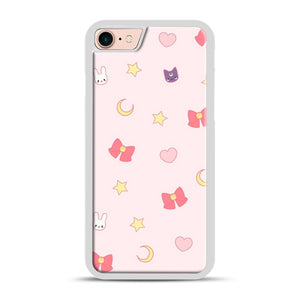 Moon Bunny 1 iPhone 7/8 Case.jpg, White Plastic Case | Webluence.com