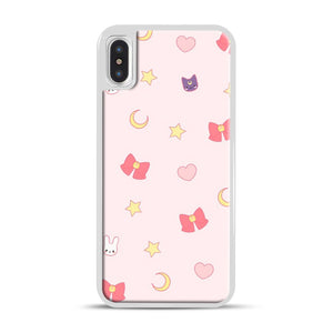 Moon Bunny 1 iPhone X/XS Case, White Rubber Case | Webluence.com