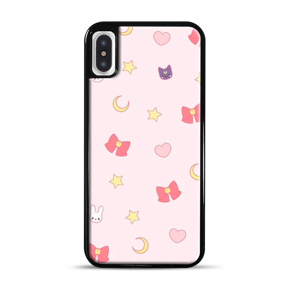 Moon Bunny 1 iPhone X/XS Case, Black Plastic Case | Webluence.com