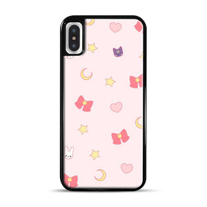 Moon Bunny 1 iPhone X/XS Case, Black Rubber Case | Webluence.com