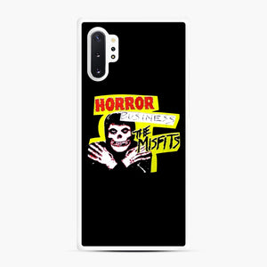 New rock hardcore punk horror the misfits skull print Samsung Galaxy Note 10 Plus Case, White Rubber Case | Webluence.com