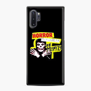 New rock hardcore punk horror the misfits skull print Samsung Galaxy Note 10 Plus Case, Black Plastic Case | Webluence.com