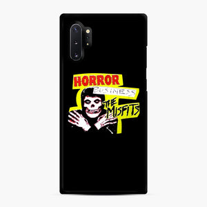 New rock hardcore punk horror the misfits skull print Samsung Galaxy Note 10 Plus Case, Black Rubber Case | Webluence.com