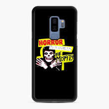 Load image into Gallery viewer, New rock hardcore punk horror the misfits skull print Samsung Galaxy S9 Plus Case, Black Rubber Case | Webluence.com