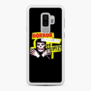 New rock hardcore punk horror the misfits skull print Samsung Galaxy S9 Plus Case, White Rubber Case | Webluence.com