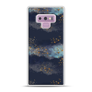 Night Sky & Stars1 Samsung Galaxy Note 9 Case, White Rubber Case | Webluence.com