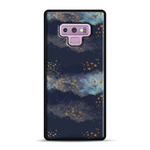 Night Sky & Stars1 Samsung Galaxy Note 9 Case, Black Rubber Case | Webluence.com