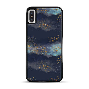 Night Sky & Stars1 iPhone X/XS Case, Black Rubber Case | Webluence.com