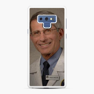 Official Dr. Fauci Anthony Fauci Samsung Galaxy Note 9 Case, White Rubber Case | Webluence.com