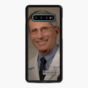 Official Dr. Fauci Anthony Fauci Samsung Galaxy S10 Plus Case, Black Rubber Case | Webluence.com