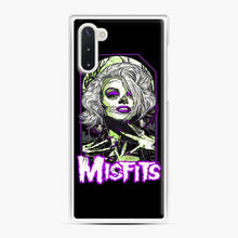 Load image into Gallery viewer, Original Misfits Samsung Galaxy Note 10 Case, White Plastic Case | Webluence.com