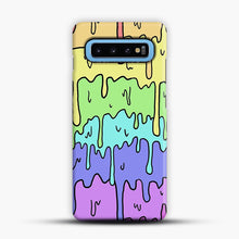 Load image into Gallery viewer, Pastel Melting Rainbow Samsung Galaxy S10 Case, Snap Case | Webluence.com