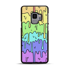 Load image into Gallery viewer, Pastel Melting Rainbow Samsung Galaxy S9 Case, Black Rubber Case | Webluence.com