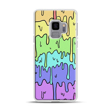 Load image into Gallery viewer, Pastel Melting Rainbow Samsung Galaxy S9 Case, White Rubber Case | Webluence.com