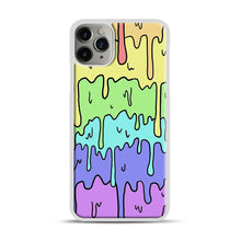 Load image into Gallery viewer, Pastel Melting Rainbow iPhone 11 Pro Max Case.jpg, White Plastic Case | Webluence.com