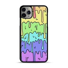 Load image into Gallery viewer, Pastel Melting Rainbow iPhone 11 Pro Max Case.jpg, Black Plastic Case | Webluence.com