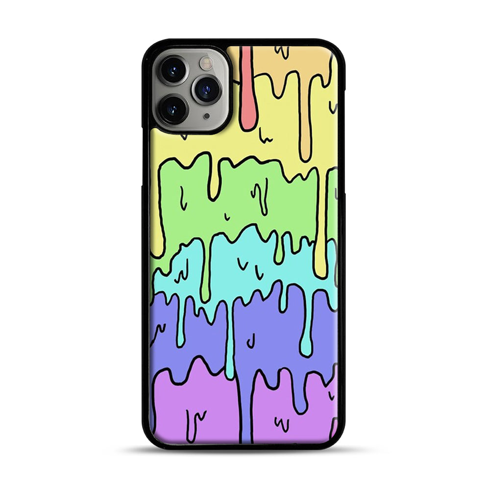 Pastel Melting Rainbow iPhone 11 Pro Max Case.jpg, Black Plastic Case | Webluence.com