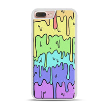 Load image into Gallery viewer, Pastel Melting Rainbow iPhone 7 Plus/8 Plus Case, White Rubber Case | Webluence.com