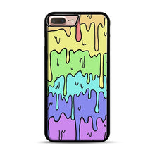 Load image into Gallery viewer, Pastel Melting Rainbow iPhone 7 Plus/8 Plus Case, Black Rubber Case | Webluence.com