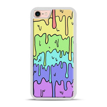 Load image into Gallery viewer, Pastel Melting Rainbow iPhone 7/8 Case.jpg, White Rubber Case | Webluence.com