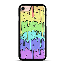 Load image into Gallery viewer, Pastel Melting Rainbow iPhone 7/8 Case.jpg, Black Plastic Case | Webluence.com