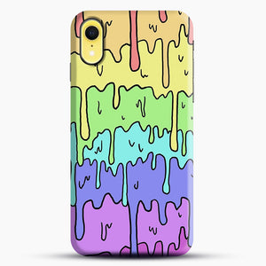 Pastel Melting Rainbow iPhone XR Case, Snap Case | Webluence.com
