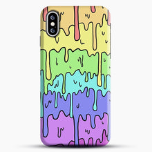 Load image into Gallery viewer, Pastel Melting Rainbow iPhone XS Max Case, Snap Case | Webluence.com