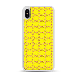 Pentagon Pattern iPhone XS Max Case, White Rubber Case | Webluence.com
