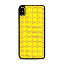 Load image into Gallery viewer, Pentagon Pattern iPhone XS Max Case, Black Rubber Case | Webluence.com