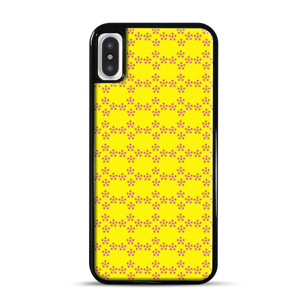 Pentagon Pattern iPhone X/XS Case, Black Plastic Case | Webluence.com