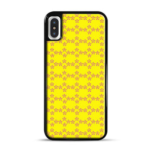 Pentagon Pattern iPhone X/XS Case, Black Rubber Case | Webluence.com