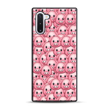 Load image into Gallery viewer, Pig Emoji Pattern 1 Samsung Galaxy Note 10 Case, Black Plastic Case | Webluence.com