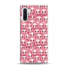 Load image into Gallery viewer, Pig Emoji Pattern 1 Samsung Galaxy Note 10 Case, White Rubber Case | Webluence.com