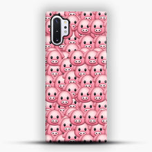 Load image into Gallery viewer, Pig Emoji Pattern 1 Samsung Galaxy Note 10 Plus Case, Snap Case | Webluence.com