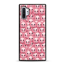 Load image into Gallery viewer, Pig Emoji Pattern 1 Samsung Galaxy Note 10 Plus Case, Black Rubber Case | Webluence.com