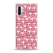 Load image into Gallery viewer, Pig Emoji Pattern 1 Samsung Galaxy Note 10 Plus Case, White Rubber Case | Webluence.com