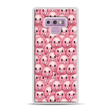 Load image into Gallery viewer, Pig Emoji Pattern 1 Samsung Galaxy Note 9 Case, White Rubber Case | Webluence.com
