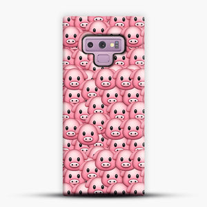 Pig Emoji Pattern 1 Samsung Galaxy Note 9 Case, Snap Case | Webluence.com