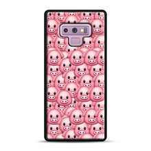Load image into Gallery viewer, Pig Emoji Pattern 1 Samsung Galaxy Note 9 Case, Black Plastic Case | Webluence.com