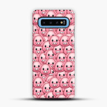 Load image into Gallery viewer, Pig Emoji Pattern 1 Samsung Galaxy S10 Case, Snap Case | Webluence.com