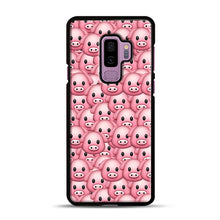 Load image into Gallery viewer, Pig Emoji Pattern 1 Samsung Galaxy S9 Plus Case, Black Rubber Case | Webluence.com