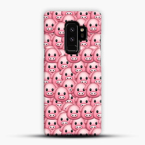 Pig Emoji Pattern 1 Samsung Galaxy S9 Plus Case, Snap Case | Webluence.com