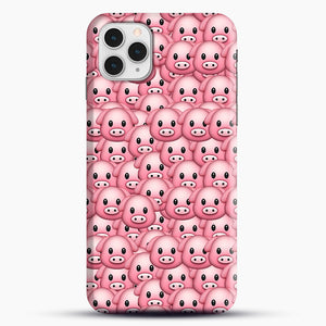 Pig Emoji Pattern 1 iPhone 11 Pro Case, Snap Case | Webluence.com